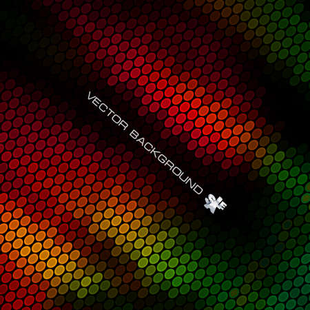Abstract background. Bright lights on black.  Vector