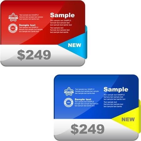 bargain price: Vector set of web elements.   Illustration