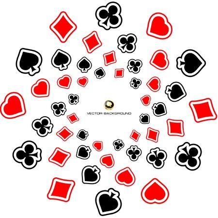 gambling composition. Vector