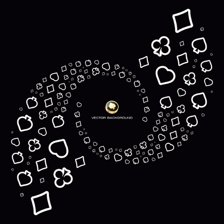Vector gambling composition. Abstract illustration. Stock Vector - 9040169