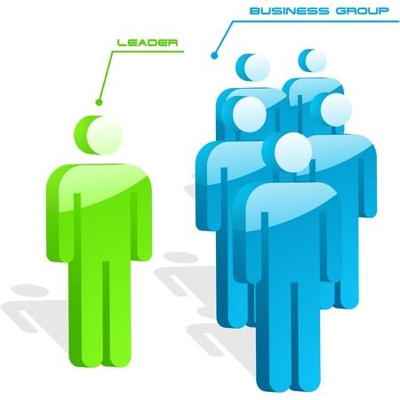 negotiations: Concepto de trabajo en equipo. Ilustraci�n vectorial.