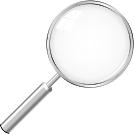 magnify glass: Vector search icon.