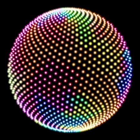 Multicolored globe illustration. Stock Vector - 9392597