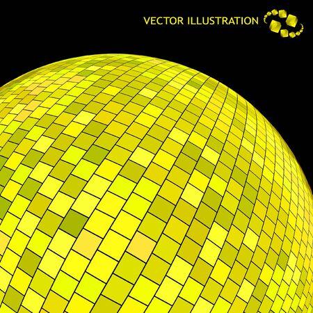 Golden sphere.  Vector