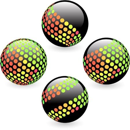 Multicolored globe illustration.   Vector
