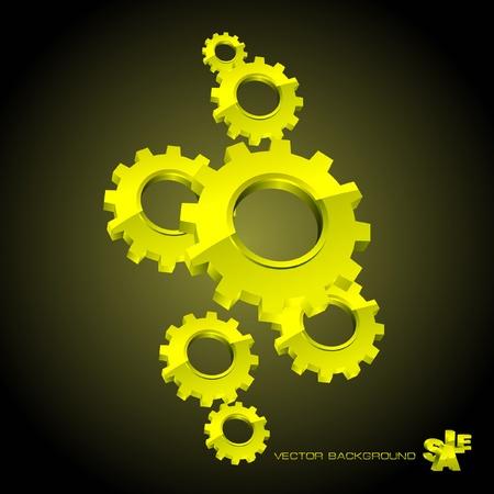 aluminum wheels: Fondo de engranaje de vector. Ilustraci�n abstracta.   Vectores