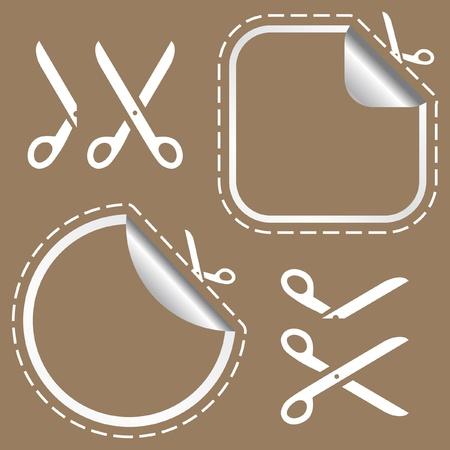 hyphen: Forbici vettoriale con taglio linee modelli di scegliere la forma