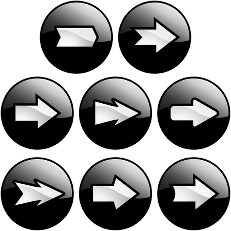 triangle button: Establece la flecha.