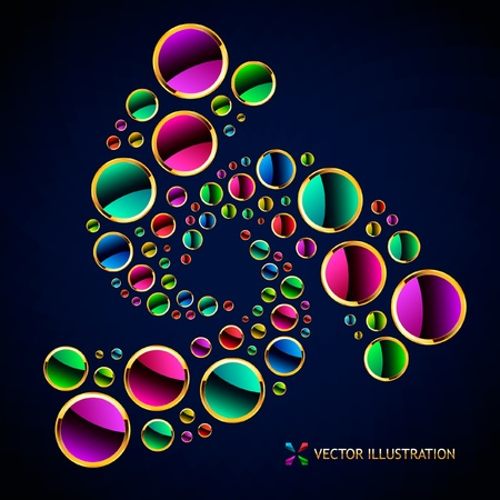 Colorful abstract background.   Vector
