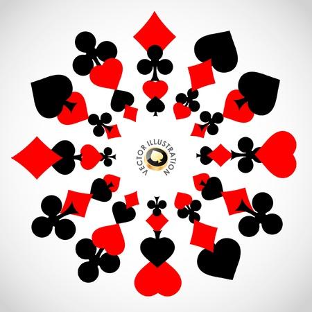 playing card symbols: Vector composici�n de juegos de azar. Fondo abstracto.