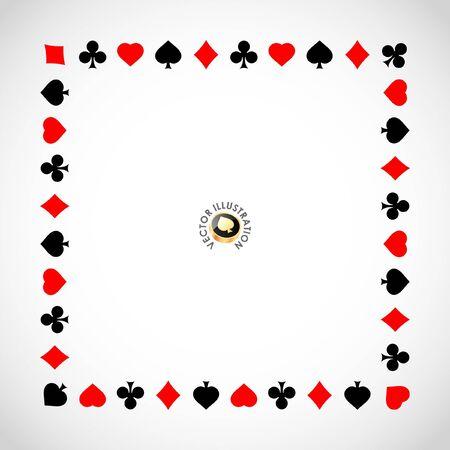 joker naipe: Vector composici�n de juegos de azar. Fondo abstracto.