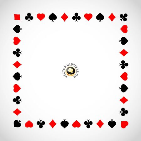 cards poker: Vector gambling composition. Abstract background.