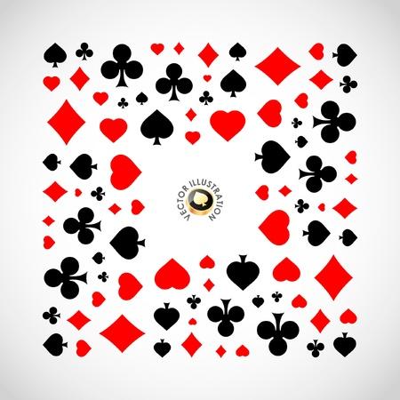 Vector illustration of card symbolic.   Vector