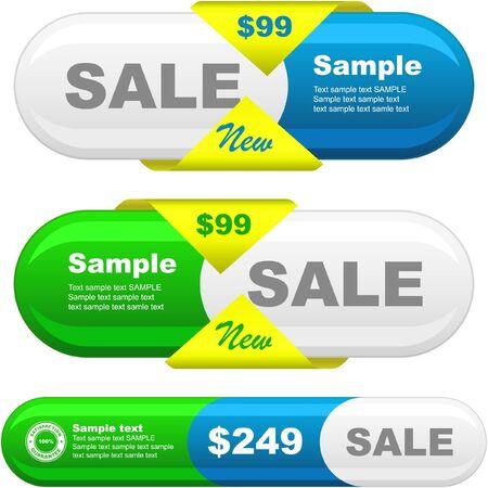 Vector set of sale design elements   Stock Vector - 9392796