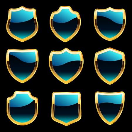 Vector set of heraldic symbols Stock Vector - 9392793