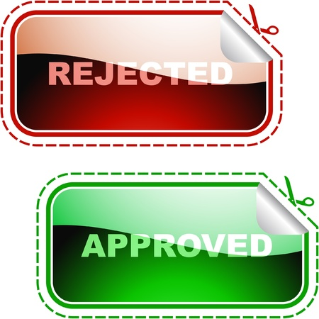 Approved and rejected icons.    Stock Vector - 9392785