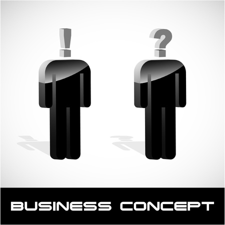 Question concept. Vector illustration.   Vector