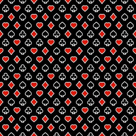 jeu de carte: Arri�re-plan transparent avec carte des combinaisons.   Illustration