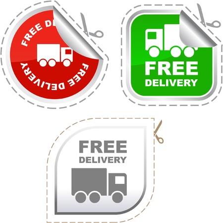Élément de livraison gratuite pour vente     Vecteurs