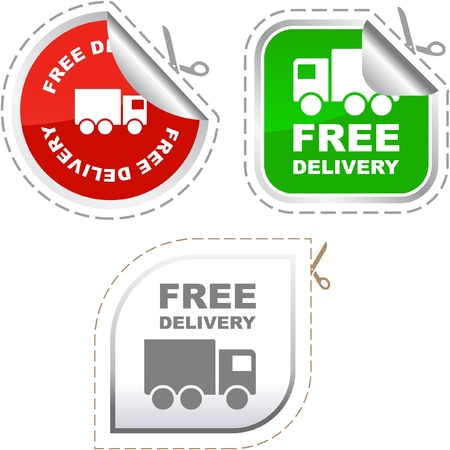 truck on highway: Free delivery element set for sale