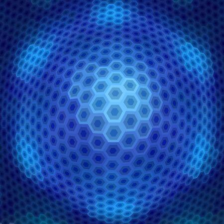 Hexágono abstracta de mosaico. Ilustración de vector