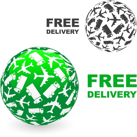 Free delivery element set for sale     Stock Vector - 9402824