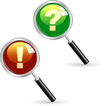 avviso importante: Elementi di vettore esclamativo e domanda.