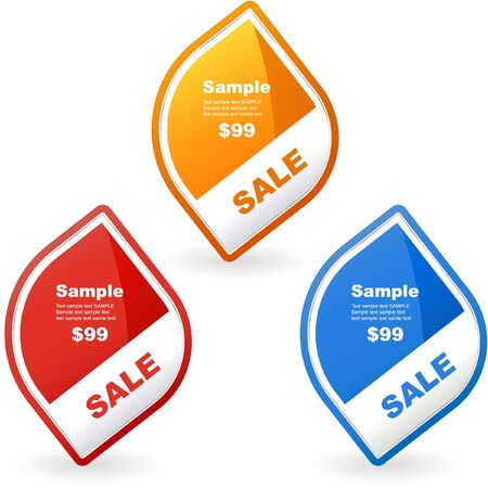 Vector set of sale design elements Stock Vector - 9402793