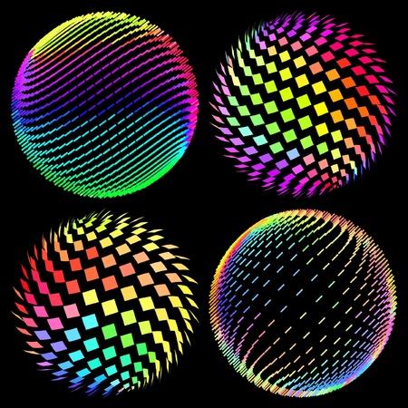 Multicolored globe illustration.   Stock Vector - 9402269