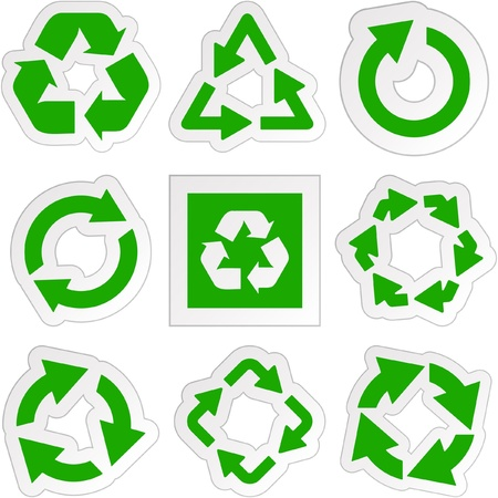 Recycle symbol. Great collection. Stock Vector - 9402200