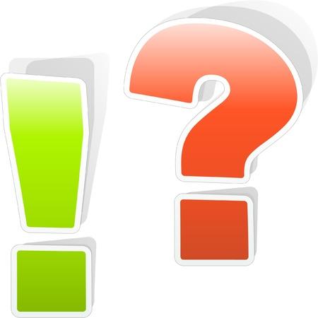exclamacion: Signo de exclamación y pregunta elementos vectoriales.    Vectores