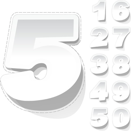 five objects: Numeri