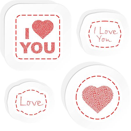 Love message. Vector illustration. Stock Vector - 9039291