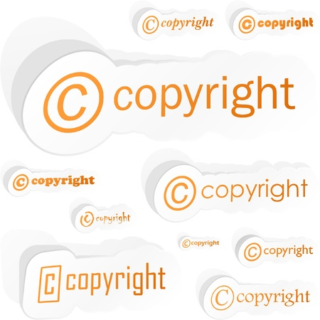 COPYRIGHT. Vector illustration.   Vector