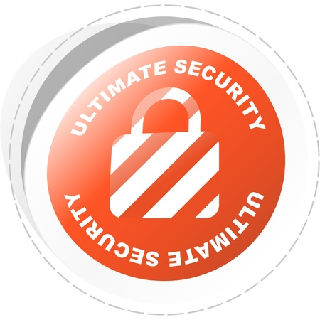 Ultimate security. Vector illustration. Vector