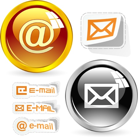 spam mail: E-mail icon set for web.