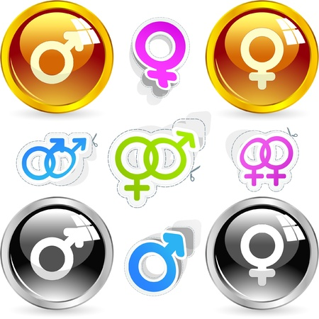 Male and female symbol.  Stock Photo - 8946300
