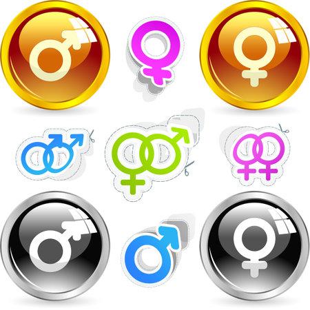 Male and female symbol.  Stock Photo - 8946300