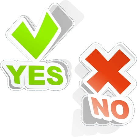 Yes and No. Stock Vector - 8946215