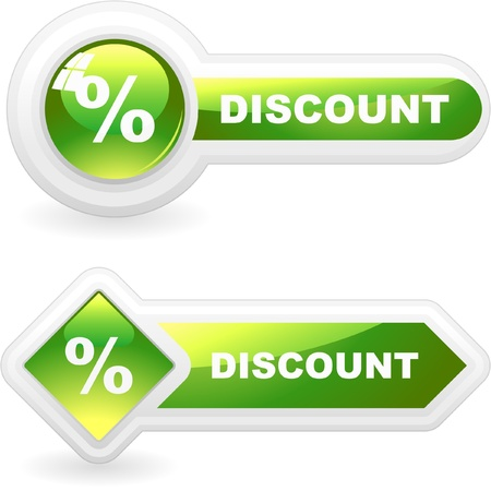 cost reduction: DISCOUNT. Button for sale.