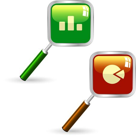 credit report: Diagram icon set for web.   Illustration