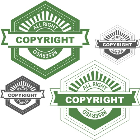 Vector copyright label for sale.   Vector