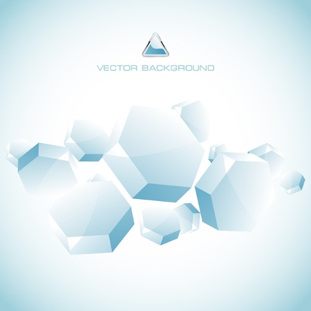 Abstract hexagon background. Stock Vector - 8946218