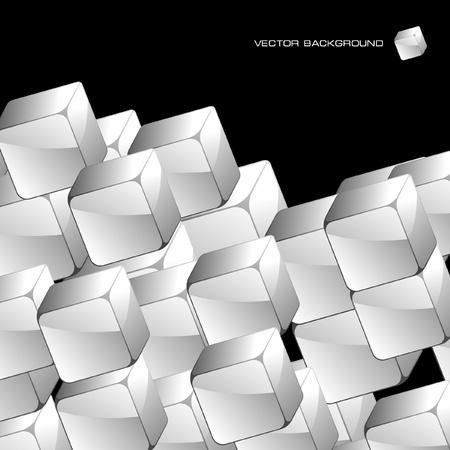 Abstracte achtergrond met transparante dozen Vector Illustratie