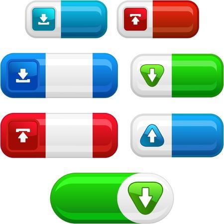 Download button set. Vector set for web. Stock Vector - 8946216