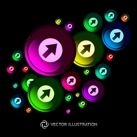 Abstract background with arrow signs. Vector illustration.   Vector
