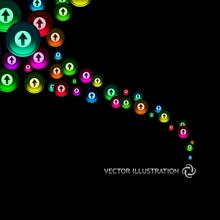 different courses: Abstract background with arrow signs. Vector illustration.