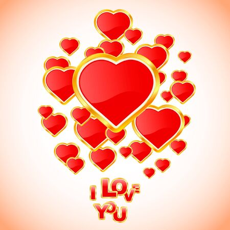 Vector love background. Vector