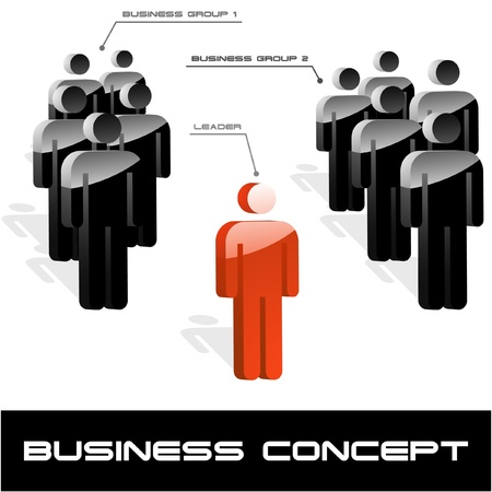 business partnership: Business concept. Vector illustration.   Illustration