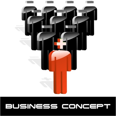 people connected: Business concept. Vector illustration.   Illustration